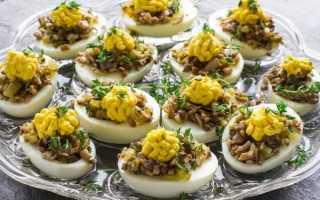 Рецепт Яйца фаршированные грибами: как приготовить, фото