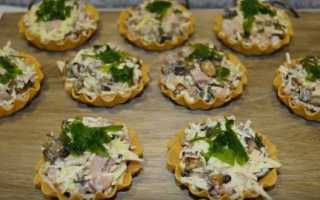 Рецепт Тарталетки с курицей и грибами: как приготовить, фото