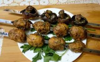 Рецепт Шашлык из шампиньонов с розмарином: как приготовить, фото