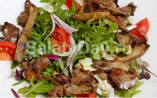 Рецепт Салат с вешенками: как приготовить, фото