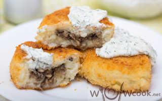 Рецепт Зразы картофельные с грибами: как приготовить, фото