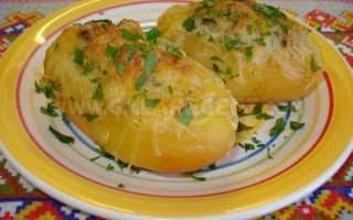 Рецепт Фаршированный грибами картофель: как приготовить, фото