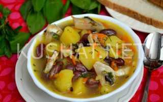 Рецепт Тосканский грибной суп с фасолью: как приготовить, фото