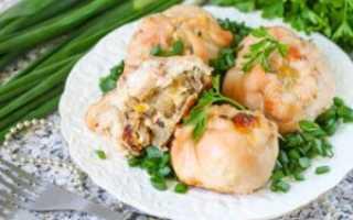 Рецепт Мешочки с сыром и грибами: как приготовить, фото
