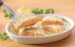 Рецепт Семга с грибами в сливочном соусе: как приготовить, фото