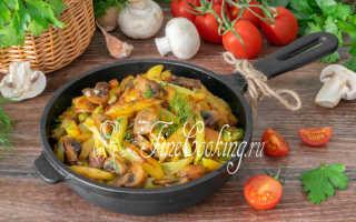 Рецепт Жареная картошка с грибами: как приготовить, фото